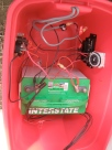 Grand central 12 volt DC power station. Solar powered switches, timers, controller with battery for pumps and fan.